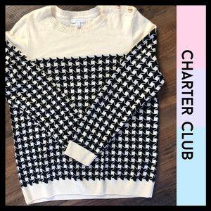 Charter Club Sweater - Checkered Print